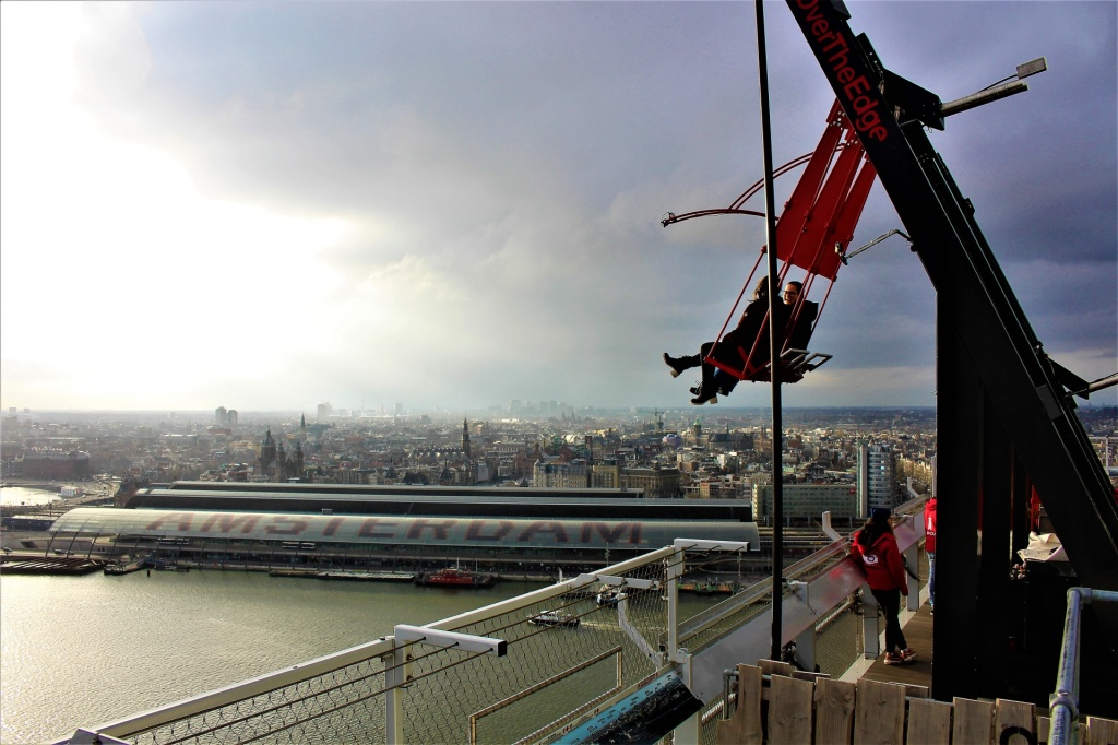 A'DAM Lookout, swing over the city Amsterdam